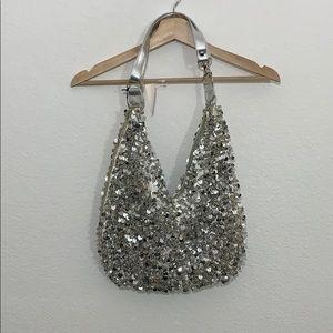 Hananel silver sequin bag